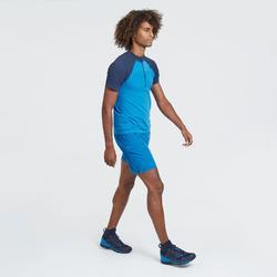 Camiseta de manga corta de senderismo rápido hombre FH900 Azul
