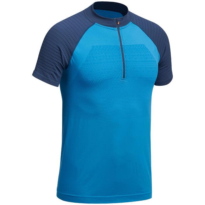 T-shirt voor fast hiking heren FH900 blauw