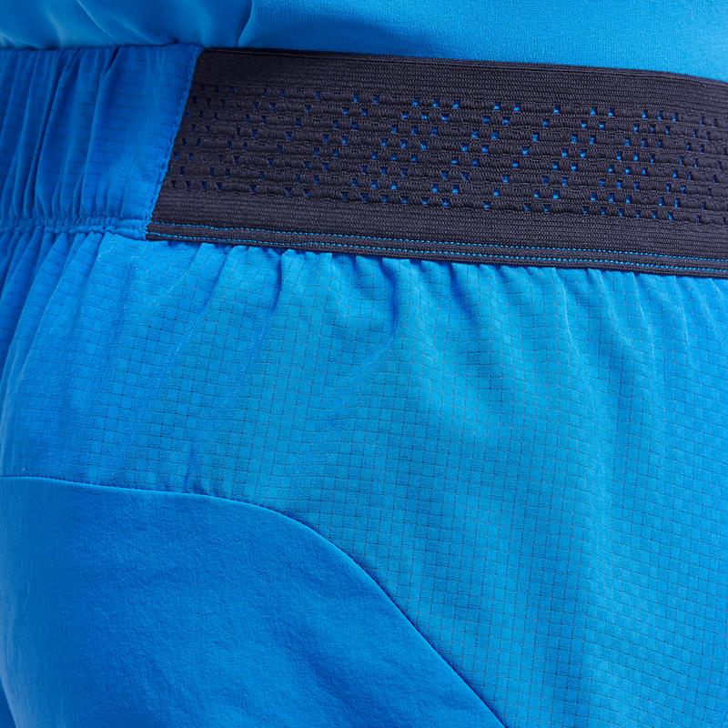 การเกงขาสั้นผู้ชายสำหรับใส่เดินป่าแบบเร็วรุ่น FH500 (สีฟ้า)