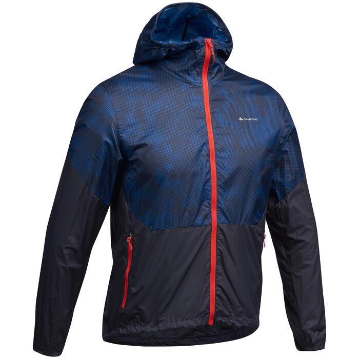 Windjacke Speed Hiking FH500 Helium Herren blau/rot