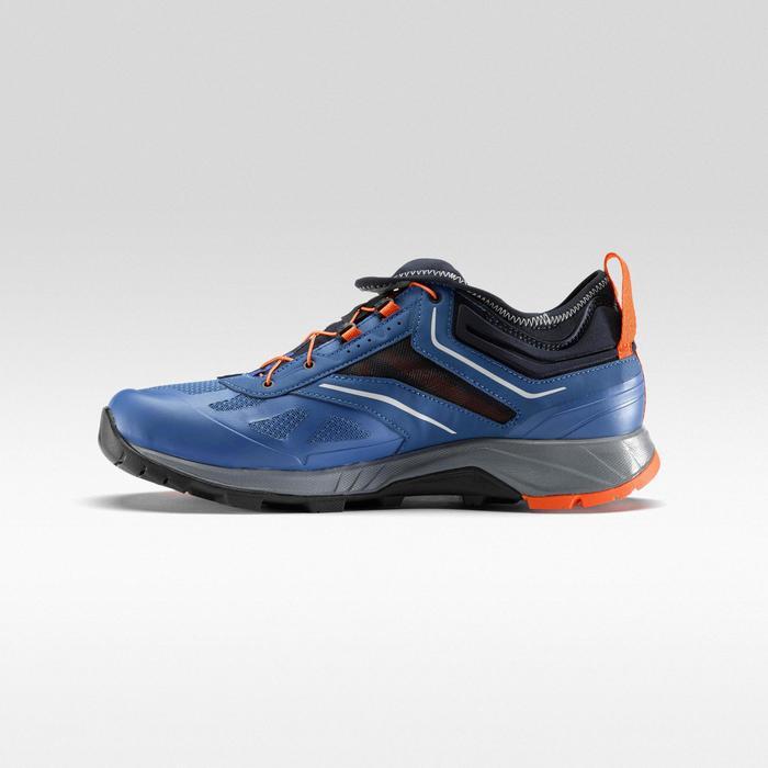 Zapatillas de senderismo rápido FH500 azul naranja.