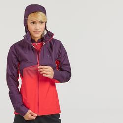Jacke Speed Hiking FH900 Hybrid wasserdicht Damen rot/pflaume