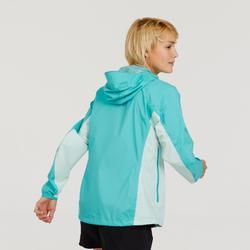 Veste imperméable de randonnée rapide Femme FH500 Helium Rain Bleu caraïbes