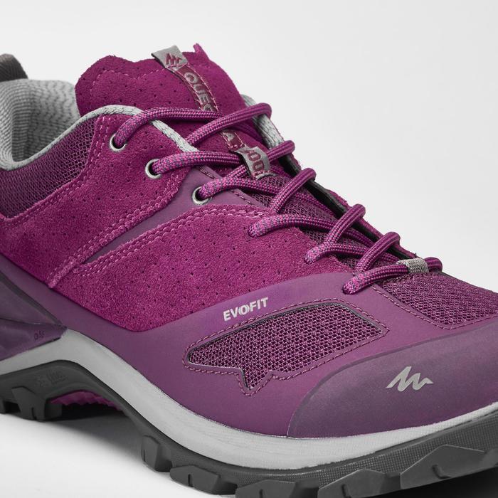 Schoenen voor bergwandelen dames MH500 pruim