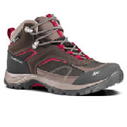 Women's waterproof Hiking boots - MH100 Mid - Brown