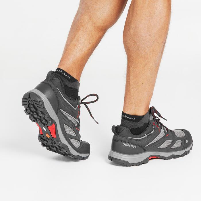 Chaussures de randonnée montagne homme MH100 imperméable gris