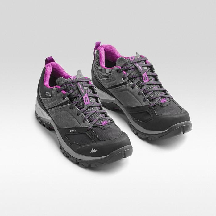 Zapatillas de senderismo en montaña MH500 impermeables Gris/Violeta
