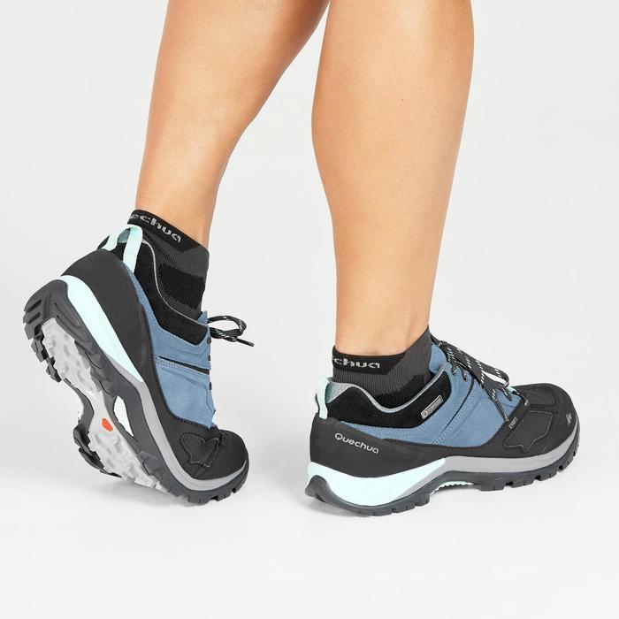 Zapatillas de senderismo en montaña Mujer MH500 impermeables Azul