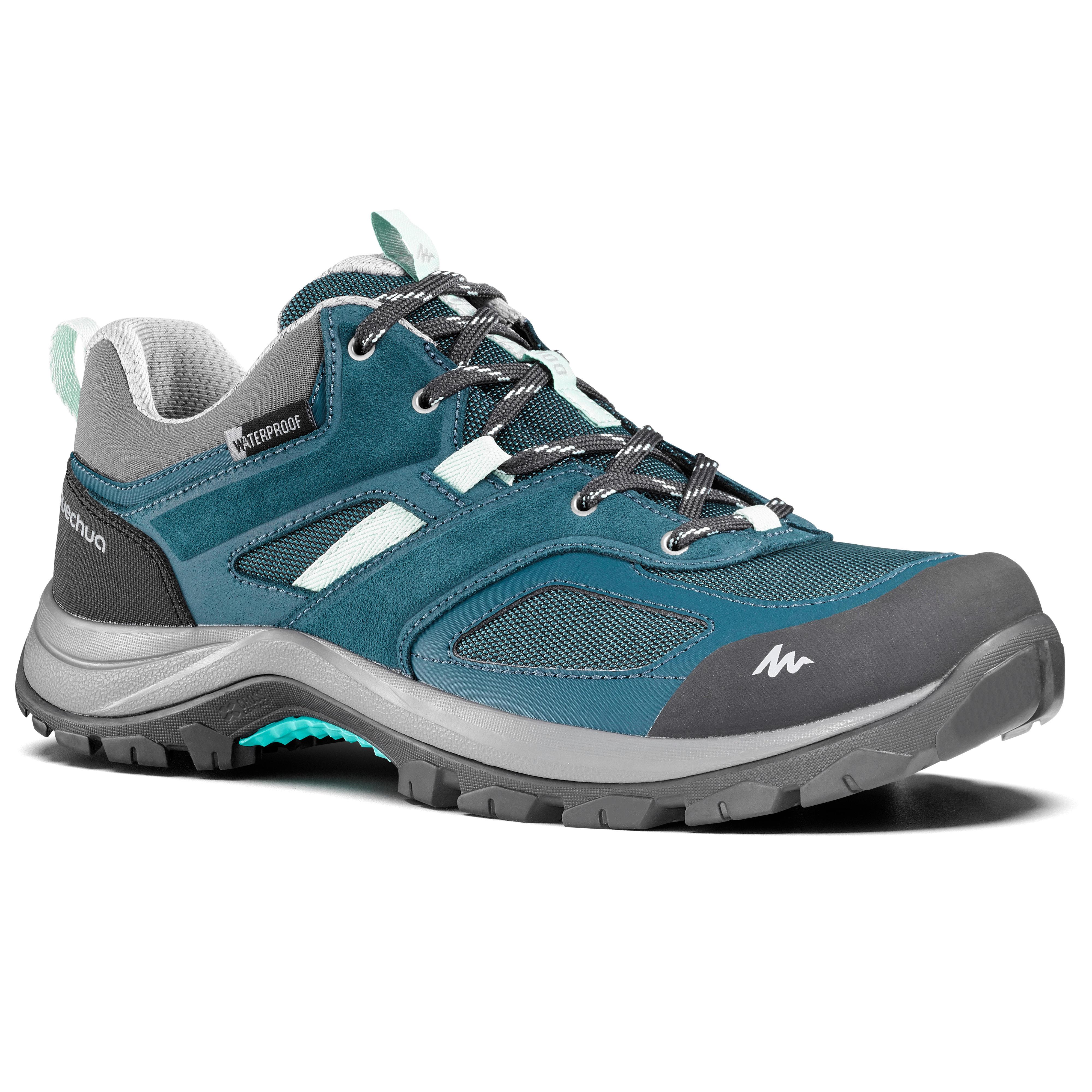 Chaussures de randonnée montagne femme MH100 imperméables Turquoise - Quechua