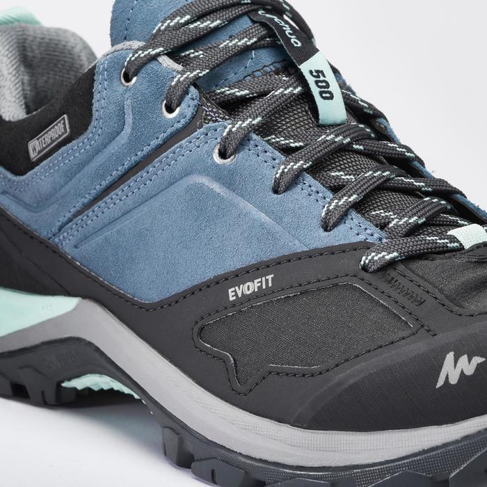 Chaussures de randonnée montagne femme MH500 imperméables Bleu