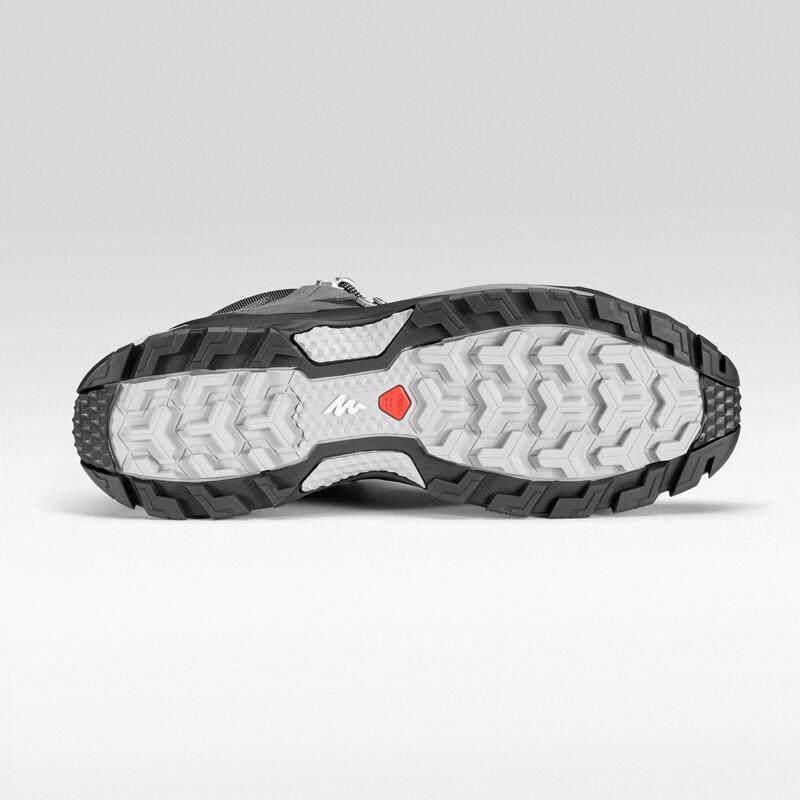 รองเท้ากันน้ำผู้ชายสำหรับเดินป่าบนภูเขารุ่น MH500 Mid (สีเทา)