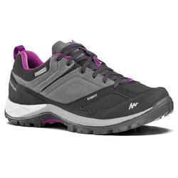 Zapatillas de senderismo en montaña mujer MH500 impermeables Gris Violeta