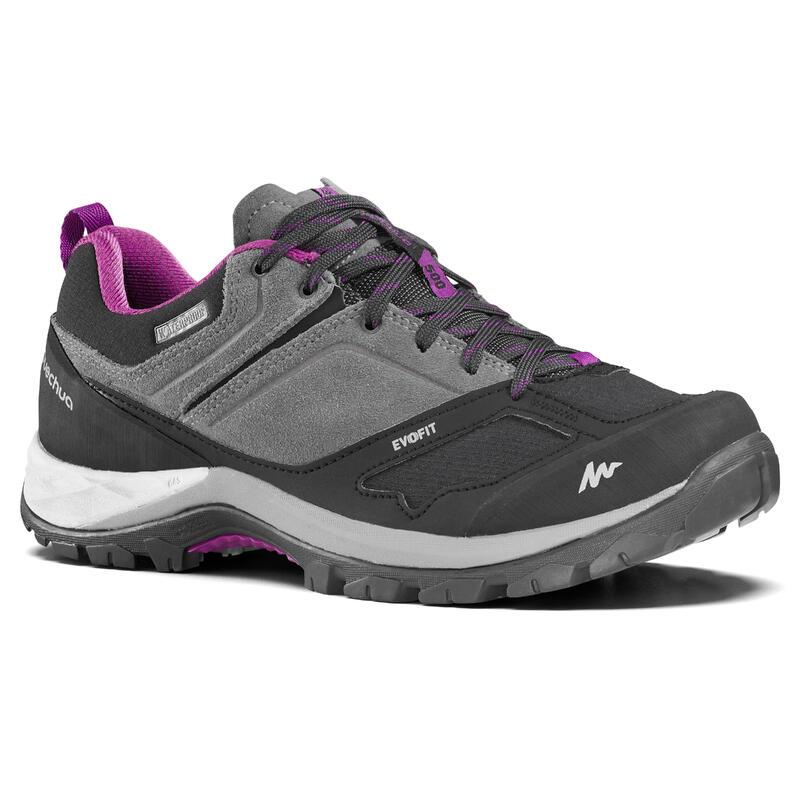Dámské turistické nepromokavá boty MH500 šedo-fialové