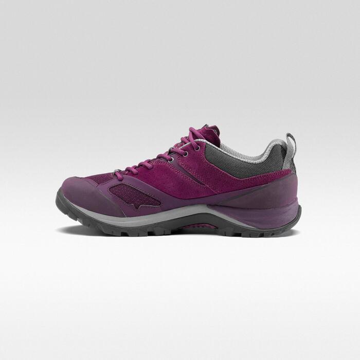 Chaussures de randonnée montagne femme MH500 Prune