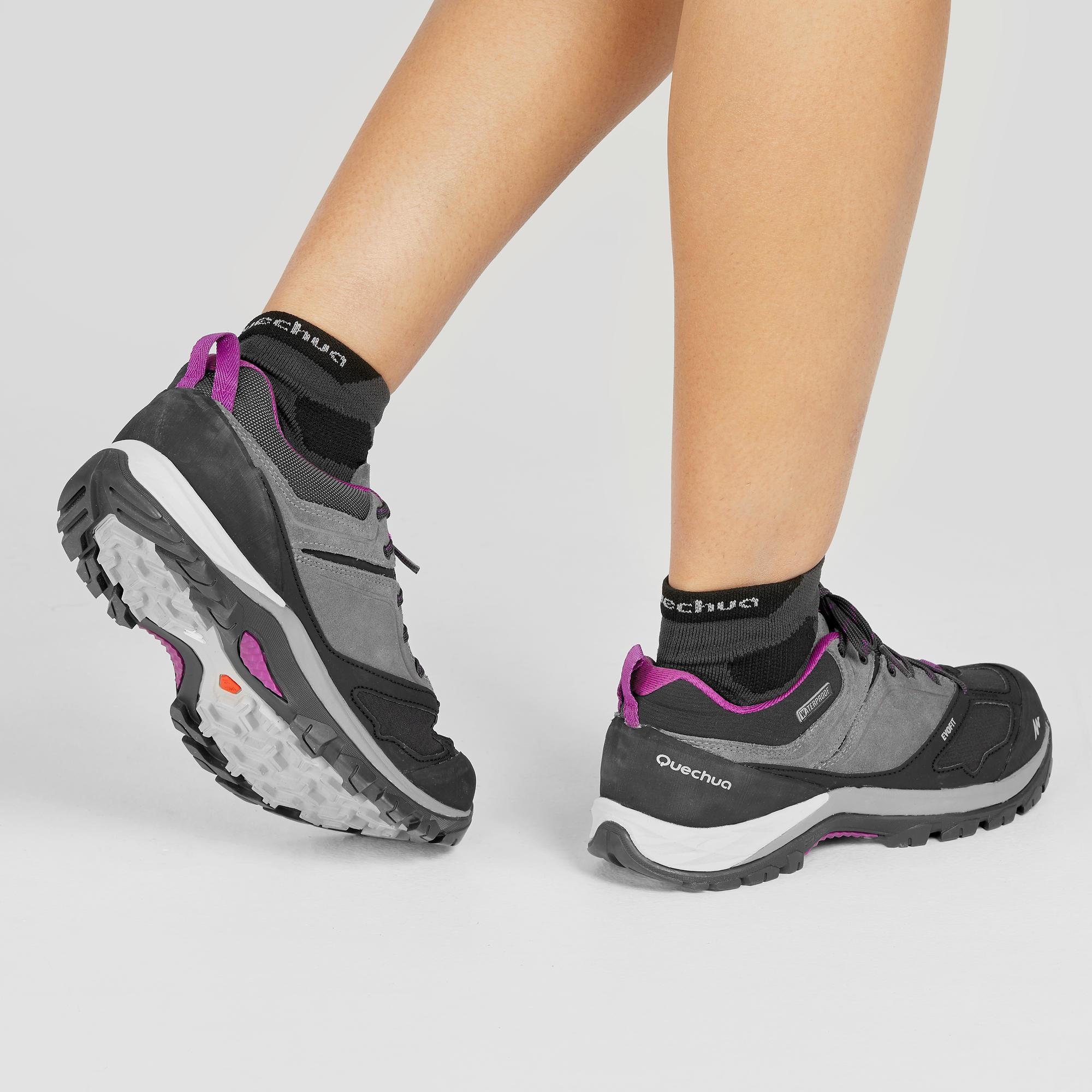 549db8f42c5 Zapatillas de senderismo en montaña mujer impermeables gris violeta jpg  700x700 Mh500 quechua montaña de zapatillas