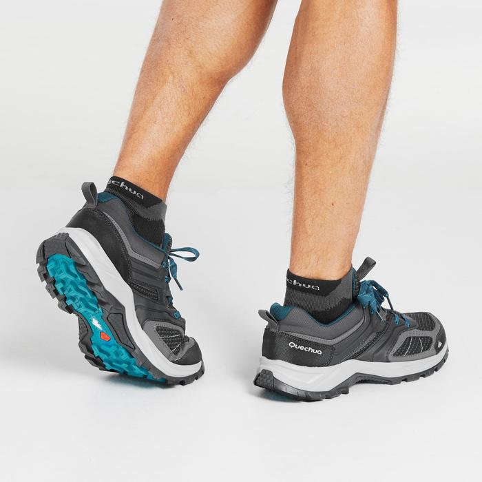 Men's Mountain Hiking Shoes MH100, black