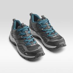 男款登山健行鞋MH100-黑色