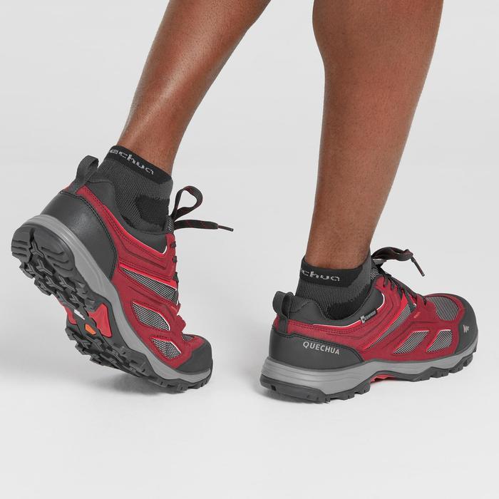Chaussures de randonnée montagne homme MH100 imperméable rouge