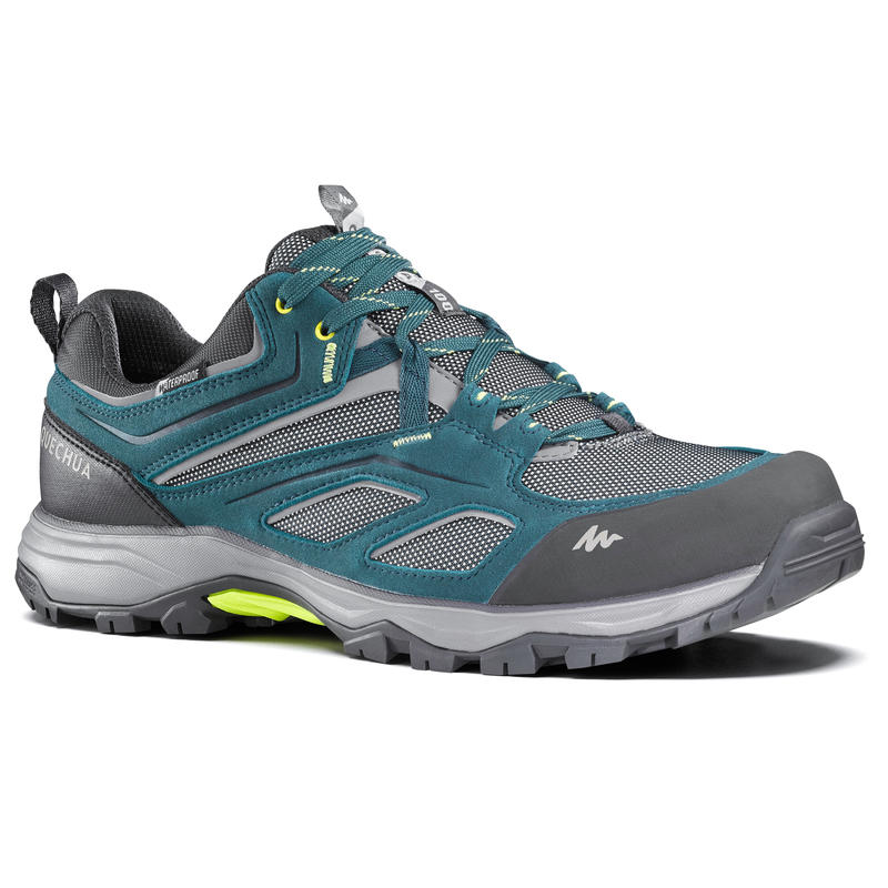 Chaussures imperméables de randonnée montagne - MH100 Bleu - Homme