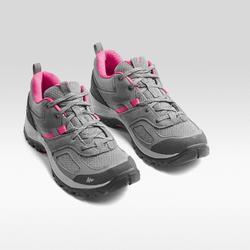 Chaussures de randonnée montagne femme MH100 Gris Rose