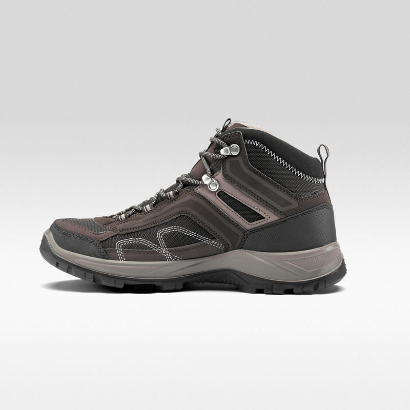 Men's Hiking Shoes (Mid Ankle) MH100 Waterproof - Brown