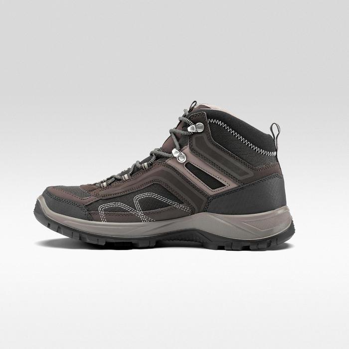 Chaussures de randonnée montagne homme MH100 Mid imperméable marron