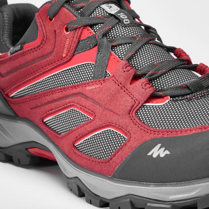 Waterdichte bergwandelschoenen voor heren MH100 rood
