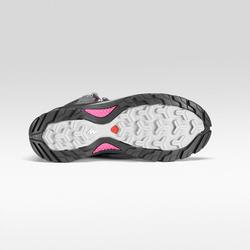 Bottes de randonnée montagne femme MH500 Mi-hautes imperméable Gris Rose