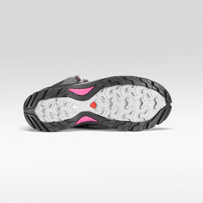 Chaussures imperméables de randonnée montagne - MH500 Mid Gris/Rose- Femme