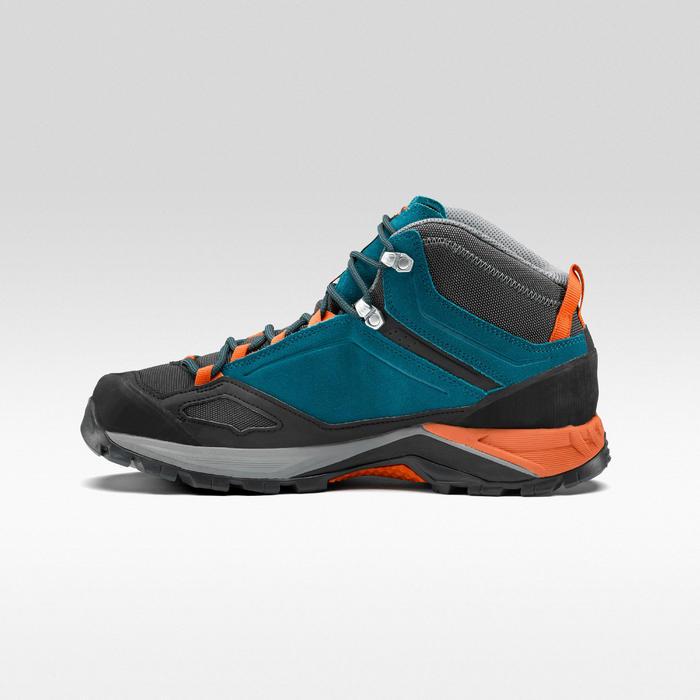 Chaussures de randonnée montagne Homme MH500 Mid imperméable Bleu/Orange