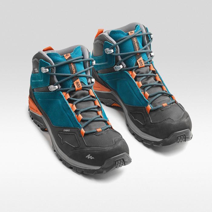 40af2d0c6ad33 Botas de senderismo en montaña hombre MH500 Mid impermeables Azul Naranja