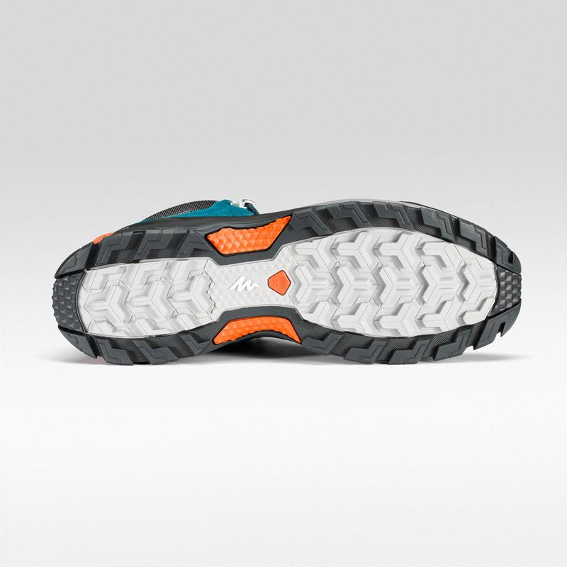 Men's Hiking Shoe MH500 (Waterproof) - Blue/Orange
