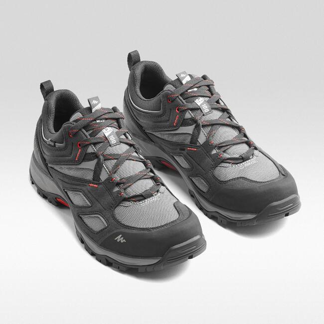 Men's Hiking Shoes WATERPROOF MH100 - Grey