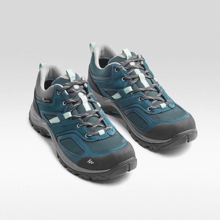 Waterdichte bergwandelschoenen voor dames MH100 turquoise