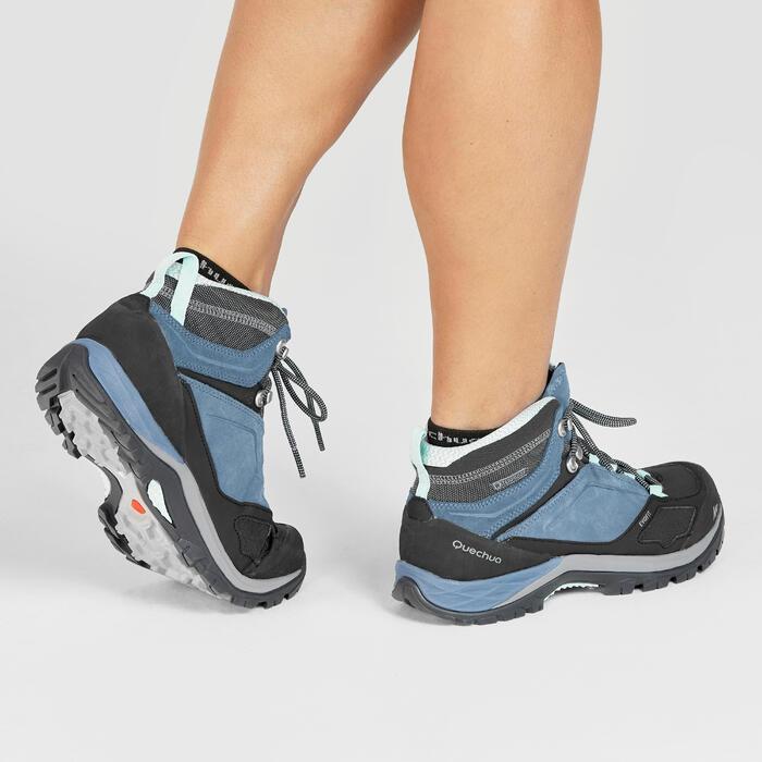Waterdichte bergwandelschoenen voor dames MH500 mid blauw