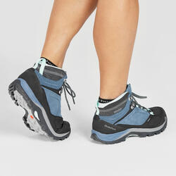 Women's waterproof mountain hiking shoes - MH500 Mid - Blue