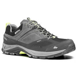 Men's mountain walking waterproof shoes MH500 - Grey
