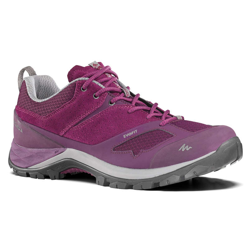 WOMEN MOUNTAIN HIKING SHOES Hiking - MH500 Womens Walking Shoes - Plum  QUECHUA - Outdoor Shoes