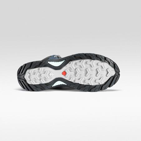 Women's Waterproof Mountain walking Mid Shoes MH500 - Blue