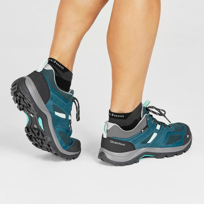 Chaussures de randonnée montagne femme MH100 imperméables Turquoise