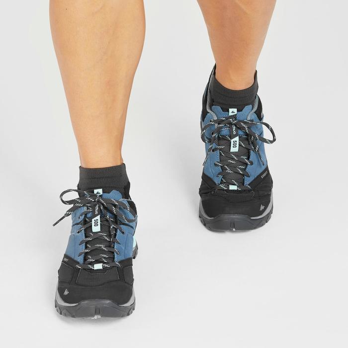 Waterdichte schoenen voor bergwandelen dames MH500 blauw