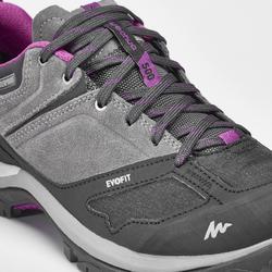Waterdichte schoenen voor bergwandelen dames MH500 grijs/paars