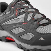 Tenis de senderismo en montaña para hombre MH100 impermeables gris