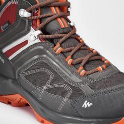 Chaussures de randonnée montagne homme MH100 Mid imperméable gris orange