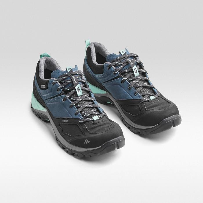 Waterdichte bergwandelschoenen voor dames MH500 blauw