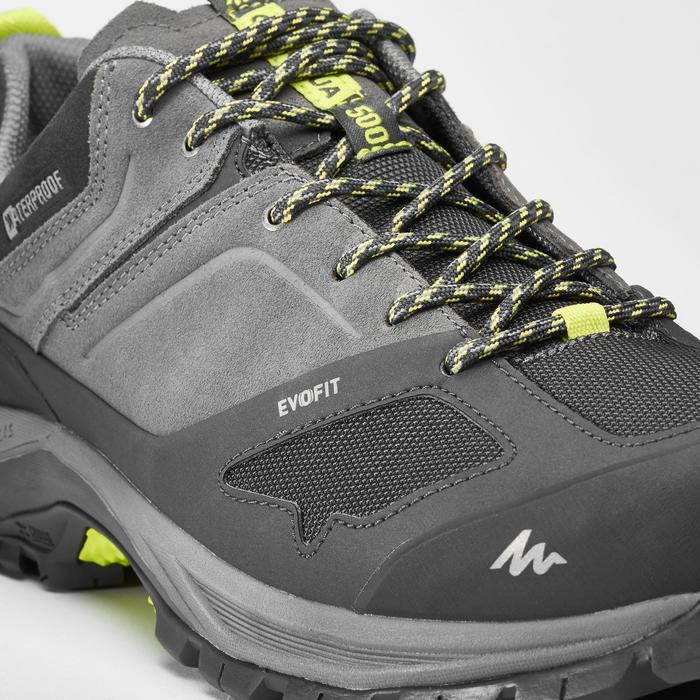 Wanderschuhe Bergwandern MH500 wasserdicht Herren grau