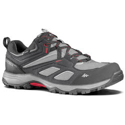 Men's waterproof mountain walking shoes MH100 - Grey
