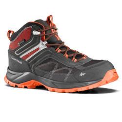 Chaussures de randonnée montagne homme MH100 mi-haute imperméable gris orange