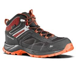 MH100 Mid Men's Waterproof Hiking Shoes - Grey/Orange