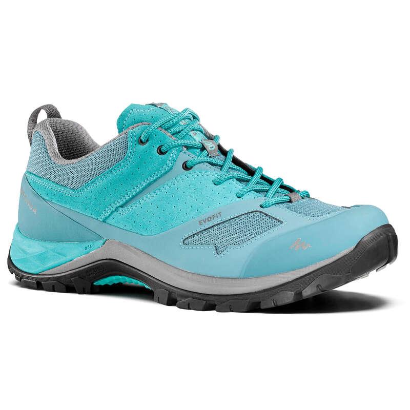 WOMEN MOUNTAIN HIKING SHOES Hiking - MH500 Womens Walking Shoes - Turquoise  QUECHUA - Outdoor Shoes